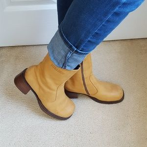 Vintage Durango Ankle Campus Boots Chunky Leather